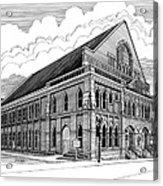 Ryman Auditorium In Nashville Tn Acrylic Print by Janet King