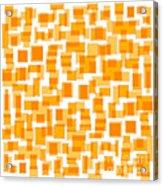 Saffron Yellow Abstract Acrylic Print by Frank Tschakert