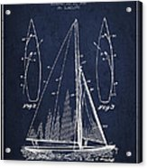 Sailboat Patent Drawing From 1927 Acrylic Print by Aged Pixel