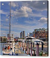 Sailboats In Constitution Marina - Boston Acrylic Print by Joann Vitali
