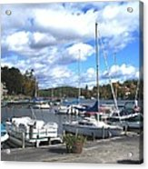 Sailboats On Sunapee Acrylic Print by Will Boutin Photos