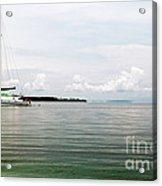 Sailing At Star Beach Acrylic Print by John Rizzuto