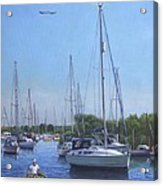 Sailing Boats At Christchurch Harbour Acrylic Print by Martin Davey