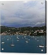 Sailing Saint Thomas Acrylic Print by Willie Harper
