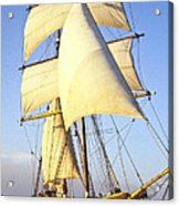 Sailing Ship Carribean Acrylic Print by Douglas Barnett