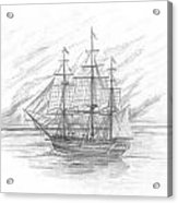 Sailing Ship Enterprise Acrylic Print by Michael Penny