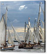 Sailing The Limfjord Acrylic Print by Robert Lacy