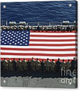 Sailors And Marines Display Acrylic Print by Stocktrek Images