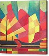 Sails And Ocean Skies Acrylic Print by Tracey Harrington-Simpson