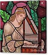 Saint Cecilia Acrylic Print by Gilroy Stained Glass