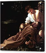 Saint Francis Of Assisi In Ecstasy Acrylic Print by Caravaggio