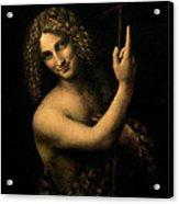 Saint John The Baptist Acrylic Print by Leonardo da Vinci