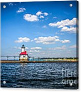 Saint Joseph Lighthouse And Pier Picture Acrylic Print by Paul Velgos