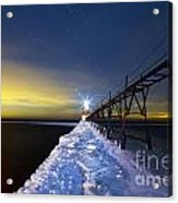 Saint Joseph Pier At Night Acrylic Print by Twenty Two North Photography