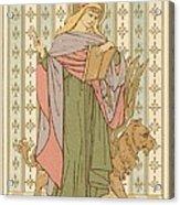 Saint Mark Acrylic Print by English School