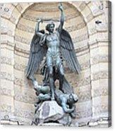 Saint Michael The Archangel In Paris Acrylic Print by Carol Groenen