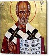 Saint Nicholas The Wonder Worker Acrylic Print by Joseph Malham