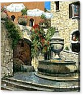 Saint Paul De Vence Fountain Acrylic Print by Michael Swanson