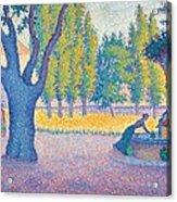 Saint-tropez Fontaine Des Lices Acrylic Print by Paul Signac