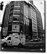 Saint Vincent Catholic Medical Centre Ambulance Crossing 6th Avenue And Broadway Acrylic Print by Joe Fox