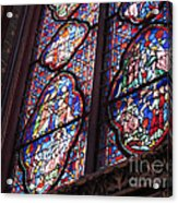Sainte-chapelle Window Acrylic Print by Ann Horn