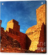 Salinas Pueblo Abo Mission Golden Light Acrylic Print by Bob Christopher