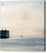 Salish Into The Fog Acrylic Print by Mike  Dawson