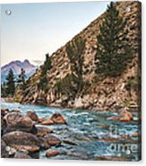 Salmon River In The Twilight Acrylic Print by Robert Bales