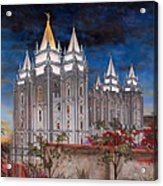 Salt Lake Temple Acrylic Print by Jeff Brimley