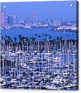 San Diego Twilight Acrylic Print by Sandra Bronstein