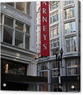 San Francisco Barneys Department Store - 5d20544 Acrylic Print by Wingsdomain Art and Photography
