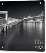 San Francisco Bay Bridge And Pier 14 Acrylic Print by Colin and Linda McKie
