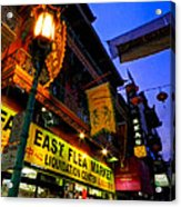 San Francisco - Chinatown 009 Acrylic Print by Lance Vaughn