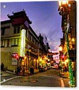 San Francisco - Chinatown 010 Acrylic Print by Lance Vaughn