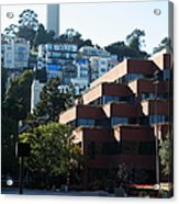 San Francisco Coit Tower At Levis Plaza 5d26188 Acrylic Print by Wingsdomain Art and Photography