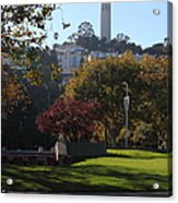 San Francisco Coit Tower At Levis Plaza 5d26217 Acrylic Print by Wingsdomain Art and Photography