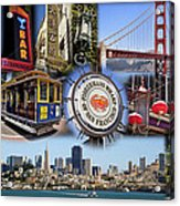 San Francisco Collage Acrylic Print by Kelley King
