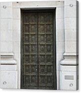 San Francisco Emporio Armani Store Doors - 5d20538 Acrylic Print by Wingsdomain Art and Photography