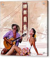San Francisco Guitar Man Acrylic Print by Robert Smith