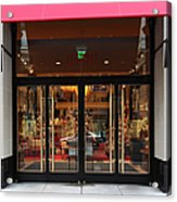 San Francisco Gumps Store Doors - 5d20588 Acrylic Print by Wingsdomain Art and Photography