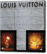 San Francisco Louis Vuitton Storefront - 5d20546-2 Acrylic Print by Wingsdomain Art and Photography