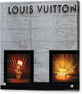 San Francisco Louis Vuitton Storefront - 5d20546 Acrylic Print by Wingsdomain Art and Photography