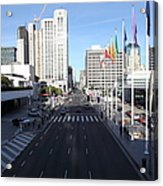 San Francisco Moscone Center And Skyline - 5d20513 Acrylic Print by Wingsdomain Art and Photography