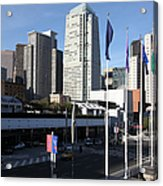 San Francisco Moscone Centerand And Skyline - 5d20504 Acrylic Print by Wingsdomain Art and Photography