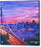 San Francisco Nights Acrylic Print by David Lloyd Glover