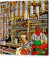 San Francisco North Beach Deli 20130505v2 Square Acrylic Print by Wingsdomain Art and Photography