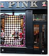 San Francisco Pink Storefront - 5d20565 Acrylic Print by Wingsdomain Art and Photography