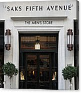 San Francisco Saks Fifth Avenue Store Doors - 5d20574 Acrylic Print by Wingsdomain Art and Photography