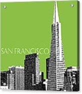 San Francisco Skyline Transamerica Pyramid Building - Olive Acrylic Print by DB Artist