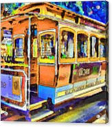 San Francisco Trams 1 Acrylic Print by Yury Malkov
